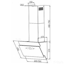 Кухонная вытяжка Backer AH60E-THSL200F BLACK GLASS