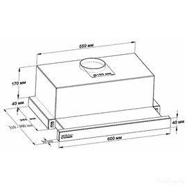 Кухонная вытяжка Backer TH60CL-15F1K-BG MС