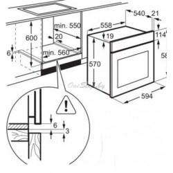 Духовой шкаф Electrolux EZB 52410 AW