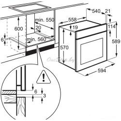 Духовой шкаф Electrolux EZB 52410 AK