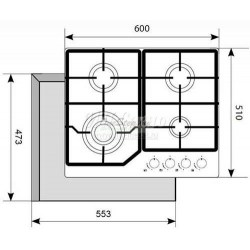 Варочная панель Akpo PGA 604 FXC