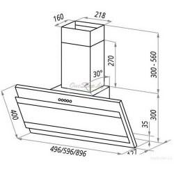 Вытяжка кухонная Exiteq EX-5026 60 Bk