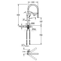 Однорычажный смеситель для кухни (мойки) Grohe Essence 30294DC0